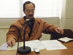上田正幸さん 収録の様子