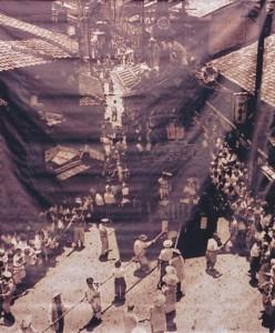 寺町三条の山鉾巡行の様子
