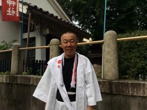 大将軍神社東三条社総代会会長白井さん