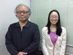 左:宮田 昌幸さん(染色職人)、右:宮川 典子さん(ラジオボランティア)