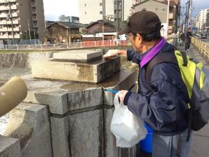七条大橋 清掃活動の様子