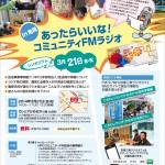 シンポジウム「あったらいいな!コミュニティFMラジオ」in亀岡 チラシ